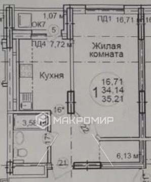 Объявление №60940569: Квартира 1 комн. Уфа, Тухвата Янаби б-р., 4,