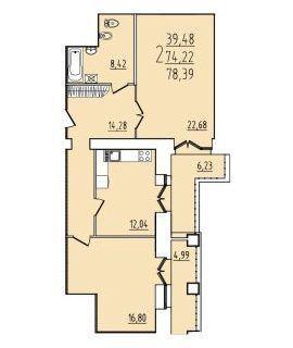 Продаю2комнатнуюквартиру, Северодвинск, Южная улица, 28в, Купить квартиру в Северодвинске по недорогой цене, ID объекта - 322461121 - Фото 1