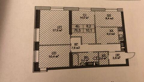 4-х комнатная квартира, Павшинская пойма, ул. Авангардная, д. 2 - Фото 4