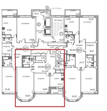 7 секция, 5 и 6 этаж, 5-ти комнатная двухэтажная квартира, 200 кв.м. - Фото 1