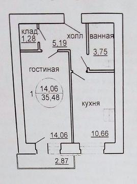 1ком.квартира в ЖК Звезда - Фото 3