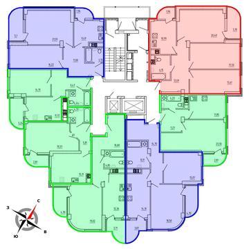 Продажа трехкомнатная квартира 90.4м2 в ЖК Рощинский дом 9 - Фото 2