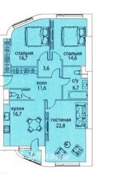 3-комнатная квартира в ЖК Символ - Фото 3