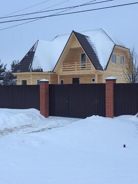 Дом из бруса 200 м2 с Газом, 25 соток, Прописка - Фото 1
