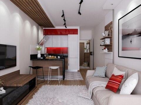 Квартира-студия в новом доме с индивидуальным отоплением - Фото 5