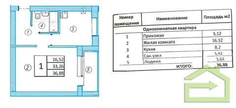 """Однокомнатная 37 кв.м. в мкрне """"Радужный"""" - Фото 2"""