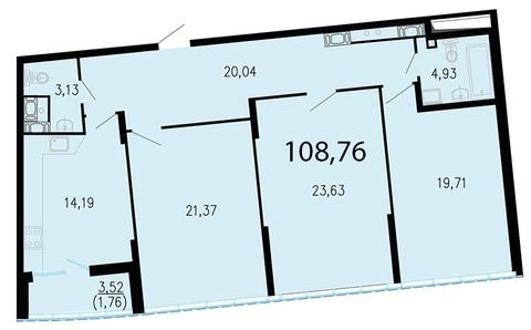 Продам 3к. квартиру. Жукова ул. к.2.2, Купить квартиру в Санкт-Петербурге по недорогой цене, ID объекта - 318417182 - Фото 1