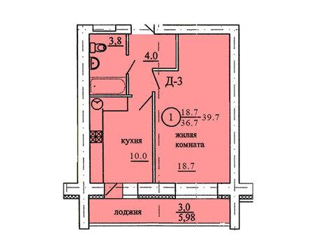 Продажа 1-комнатной квартиры, 39.7 м2, Березниковский переулок, д. 34 - Фото 1
