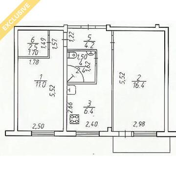 Продажа 2-к квартиры на 5/5 этаже на ул.Московская, д.15 - Фото 3