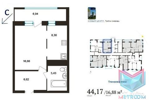 1-к квартира 44 кв.м. Революции, 3 - Фото 2