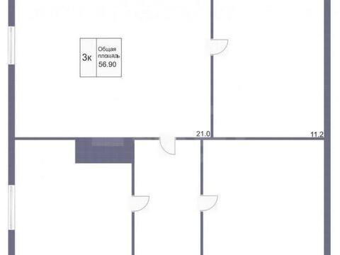 Продажа трехкомнатной квартиры на улице Плодопитомник, 113 в Кемерово, Купить квартиру в Кемерово по недорогой цене, ID объекта - 319828877 - Фото 1