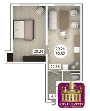 Продам 1 комнатную квартиру 50 м2 в ЖК «Castle Houses» - Фото 1