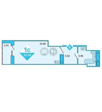 Продажа квартиры, Тюмень, Дмитрия Менделеева, Купить квартиру в Тюмени по недорогой цене, ID объекта - 320237482 - Фото 1