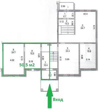Торговое помещение 50.5 кв.мподольск, - Фото 2