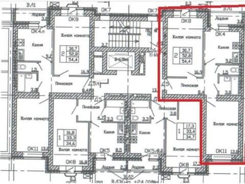 2 432 697 Руб., Продажа двухкомнатной квартиры в новостройке на улице Кривошеина, ., Купить квартиру в Воронеже по недорогой цене, ID объекта - 320574553 - Фото 1
