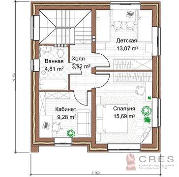 2-х этажный коттедж площадью 105 м2 на участке 7.5 соток - Фото 3