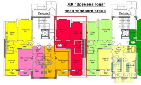 Продам 2-к.кв в ЖК Времена года на ул. Залесской, 8/11эт - Фото 3
