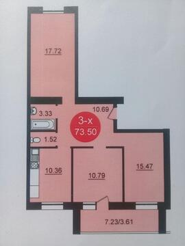 3-комнатная квартира в ЖК Династия-Левитан