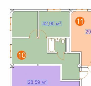 Адлер, ул. Православнвя, 43,9кв.м. 1-й этаж на уровне второго, лифт., Купить квартиру в Сочи по недорогой цене, ID объекта - 321567307 - Фото 1