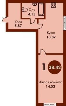 """Квартира в """"Дом с бобром"""" - Фото 2"""