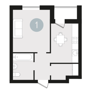 Продажа квартиры, Тюмень, Ул. 50 лет Октября, Купить квартиру в Тюмени по недорогой цене, ID объекта - 314313375 - Фото 1