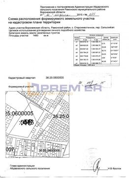 Продажа участка, Староживотинное, Рамонский район, Сельский пер. - Фото 1
