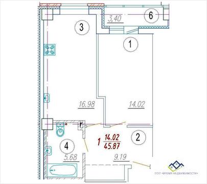 Продам 1- квартиру Ордженикидзе , д 62 , 13 эт, 47 кв.м. Цена 2300т.р - Фото 2