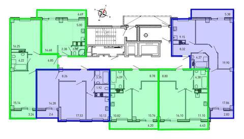 Продажа однокомнатные апартаменты 33.35м2 в ЖК Рощинский дом 7.3. . - Фото 2