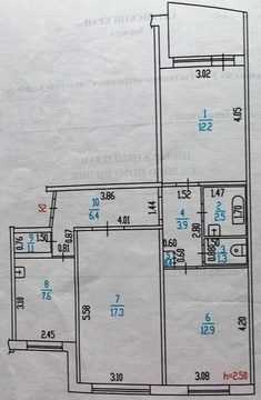 Продам в отличном спальном районе квартиру три комнаты