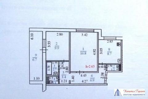Центр Города. Двухкомнатная Квартира в доме Улучшенной Планировки . - Фото 2