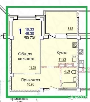 1-к квартира 50,7 кв.м, ул. Степная
