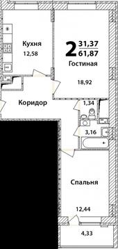 """Продается 2-я квартира в ЖК """"Высокий Берег"""" - Фото 2"""