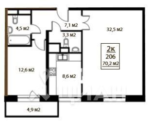 Продажа квартиры, Ромашково, Одинцовский район, Проезд Рублевский - Фото 1