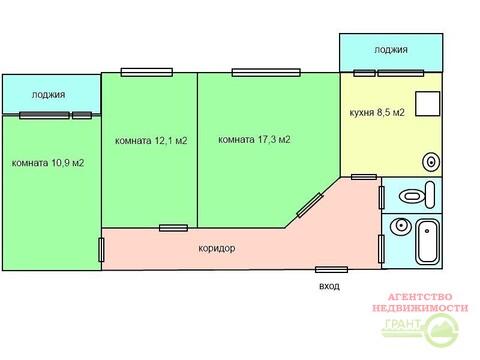 3-х комнатная квартира 70 м2 в кирпичном доме, Купить квартиру в Белгороде по недорогой цене, ID объекта - 325525399 - Фото 1