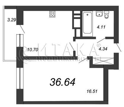 Объявление №49842486: Квартира 1 комн. Санкт-Петербург, ул. Полевая Сабировская, д. 45,