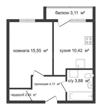 Продам 1-комн. 36.93 кв.м. Пенза, 65-летия Победы - Фото 2