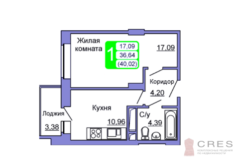 Квартира в ЖК Весенний, Подольск - Фото 1