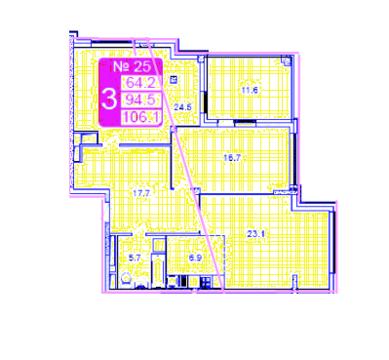 Трехкомнатная квартира в ЖК Рублевское предместье - Фото 2
