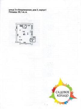 Псн (офис/маг-н), каб. план, раб. сост, эл-во 15 квт, отд. вход, 1-я - Фото 5