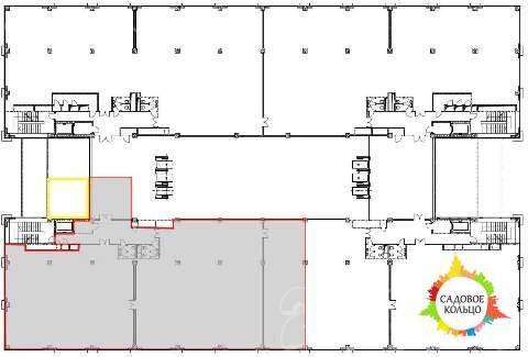 Предлагается к аренде офисное помещение 890 кв.м. - 6-й этаж Бизнес Це - Фото 1