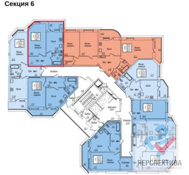 1к квартира, Серпуховская улица, 7 этаж 7-17, 43,1мкв - Фото 1