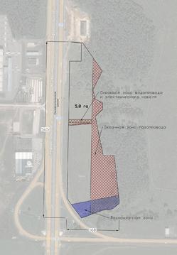 Земельный участок 5,8 га, пром, 1-ая линия, в 20 км от МКАД - Фото 2