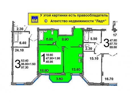 1 комн. квартиру в центре, новый дом по ул. Почтовая, ремонт, мебель - Фото 2