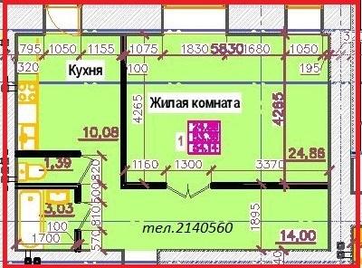 Продам 1-комн.квартиру 54.14 кв.м. на Копылова дом 2 - Фото 3