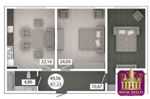 Продам 2 комнатную квартиру 87 м2 в ЖК «Castle Houses» - Фото 1