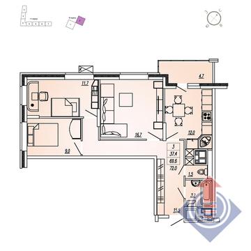 Продажа квартиры, Мытищи, Мытищинский район, Купить квартиру в новостройке от застройщика в Мытищах, ID объекта - 328979025 - Фото 1
