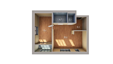 5 220 000 Руб., Однокомнатная квартира в комплексе «Венский лес», Купить квартиру в новостройке от застройщика в Уфе, ID объекта - 332711907 - Фото 1