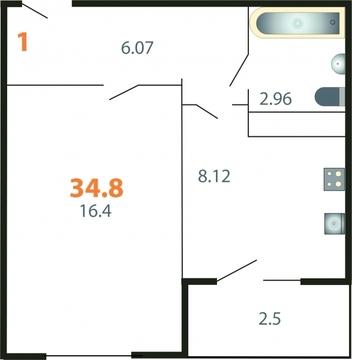 1-комнатная квартира в мкр.Пиганово - Фото 2