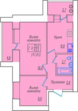 2-ком.квартира в новом кирпичном доме по ул.Советская 1а - Фото 3