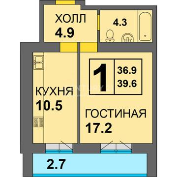 """1-к. квартира в ЖК """"Дадаевский"""" - Фото 1"""